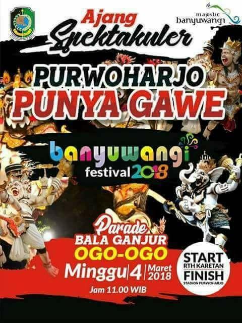 Festival Banyuwangi Ogoh-ogoh Balaganjur 2018 Purwoharjo