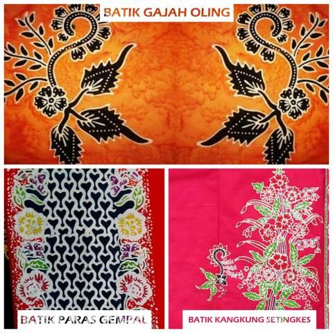 Batik Banyuwangi Gajah Oling Paras Gempal Kangkung Setingkes