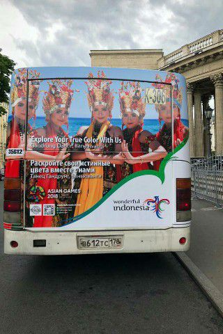 Bus Promosi Wisata Banyuwangi Rusia