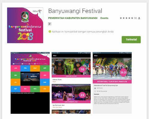 Pariwisata Banyuwangi Aplikasi Festival 2018